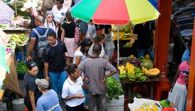 Tasty fruits and vegetables Market Seychelles