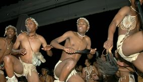 title: Traditional tribe dance Gaborone Southern Botswana