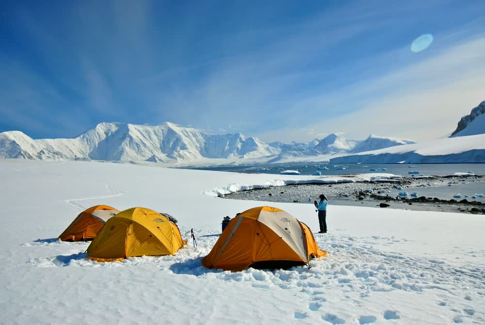 title: Yellow tents CHILE Patagonia