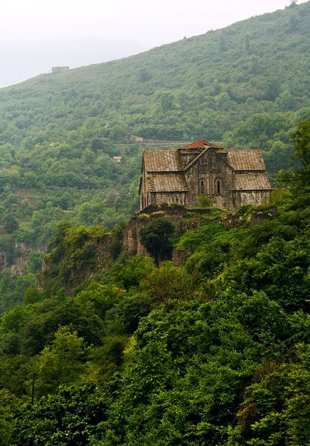 title: Akhtala in green Armenia