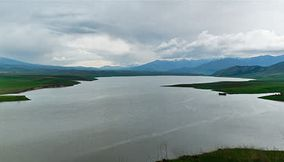 Aparan lake Landscape view Armenia