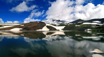 title: Aragats in lake Armenia