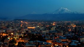 title: Ararat and evening Yerevan Armenia