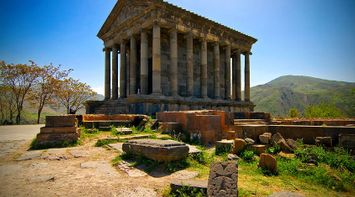 Beautiful Garni temple Armenia
