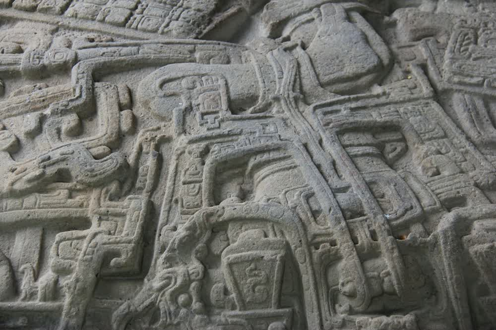 title: Beautiful art on stone Quirigua Guatemala