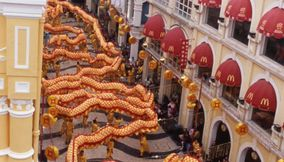 Big Chinese dragon festival Macau