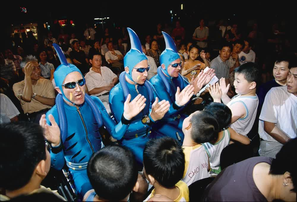 title: Blue sharks People Macau