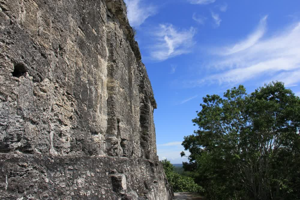 title: Blue sky and rocks Yaxha Guatemala