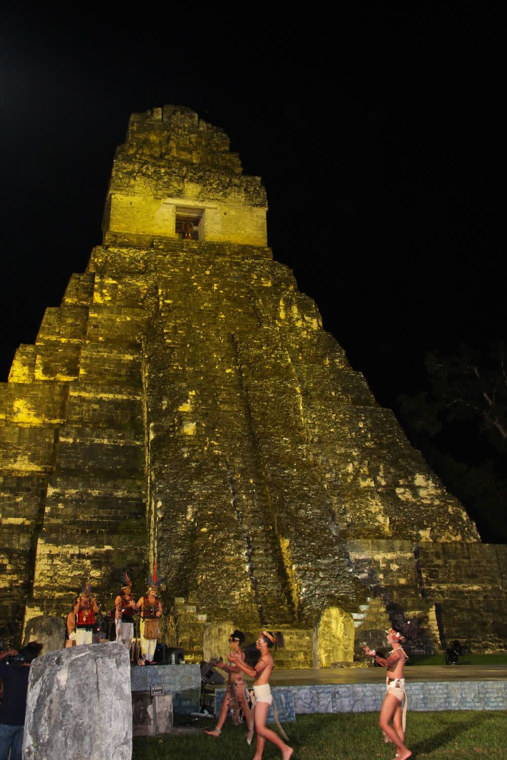 Celebration at night Tikal Guatemala