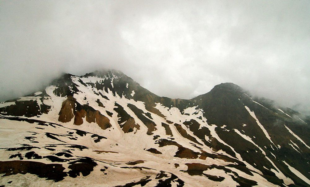 title: Clouds on Tops of Aragats Armenia