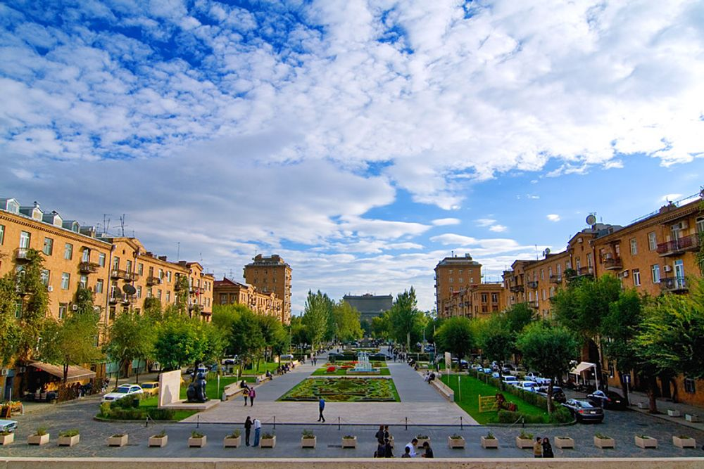 title: Clouds over Yerevan Armenia