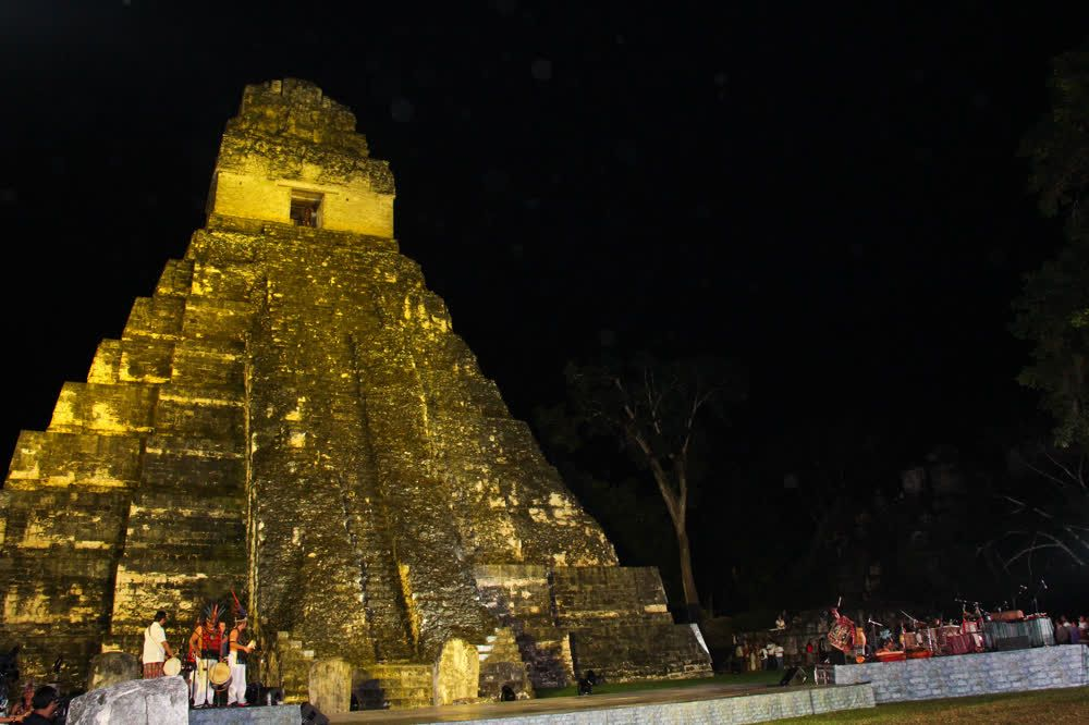 title: Festival at night Tikal Guatemala