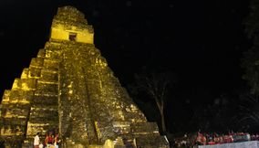 Festival at night Tikal Guatemala