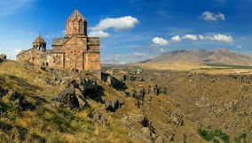 title: Hovhanavank and mountains Armenia
