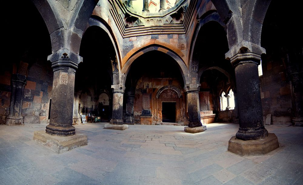 Hovhanavank indoor hall Armenia