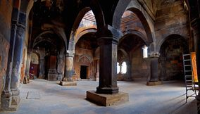 title: Hovhanavank indoor walls Armenia