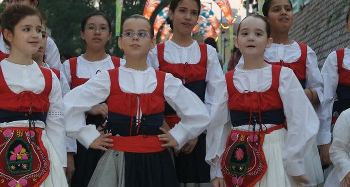 title: Kids in traditional costumes Macau