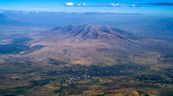 title: Mountain Ara view from above Armenia