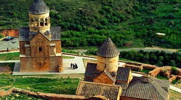 title: Noravank view from above Armenia