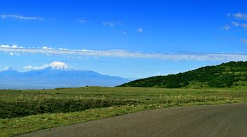 On the road to Ararat Armenia