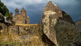 title: Original Stones of Saghmosavank Armenia