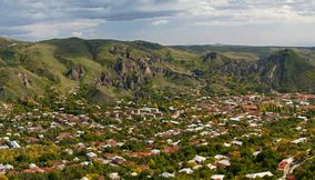 title: Panorama of Goris town Armenia