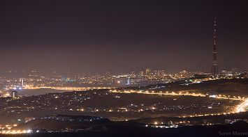 title: Panoramic night Yerevan Armenia