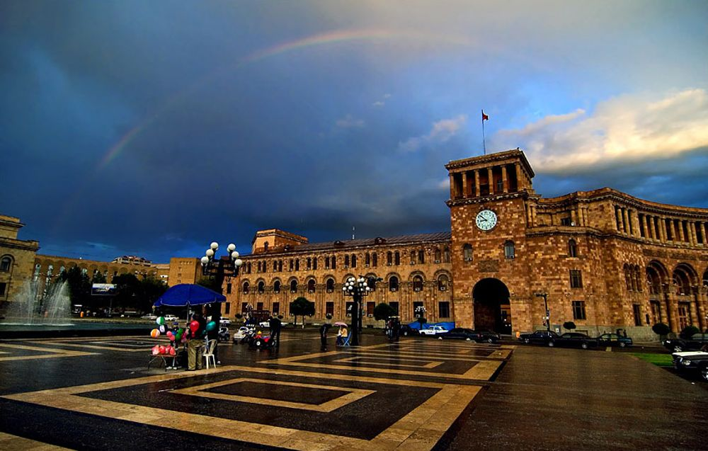 Rainbow over Yerevan Armenia