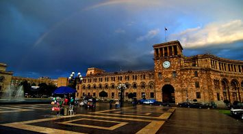 title: Rainbow over Yerevan Armenia