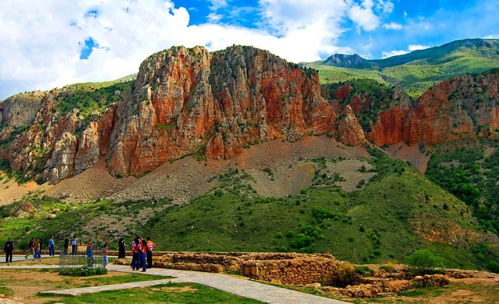 title: Red and Green Rocks of Noravank Armenia