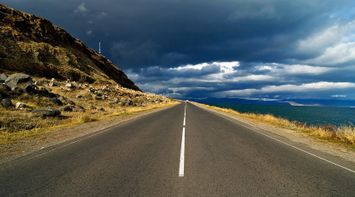 title: Road to clouds Armenia