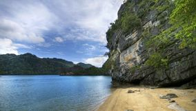 Secluded beach Langkawi