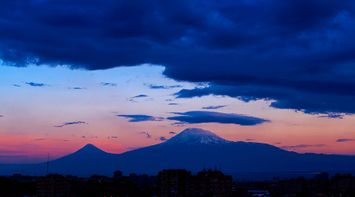 title: Sunset Ararat Armenia