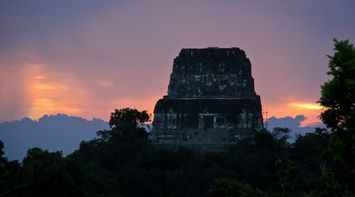 title: Sunset at Tikal Guatemala