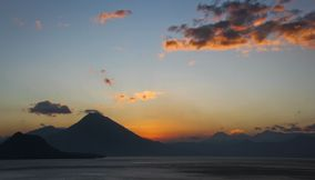 Sunset in Lago de atitlan Guatemala