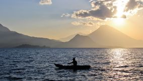 Sunset in Solola Guatemala