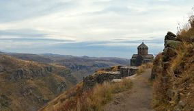 The Large Mountains of Amberd Armenia