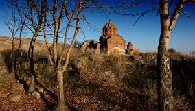 title: The Lonely Marmashen monastery Armenia
