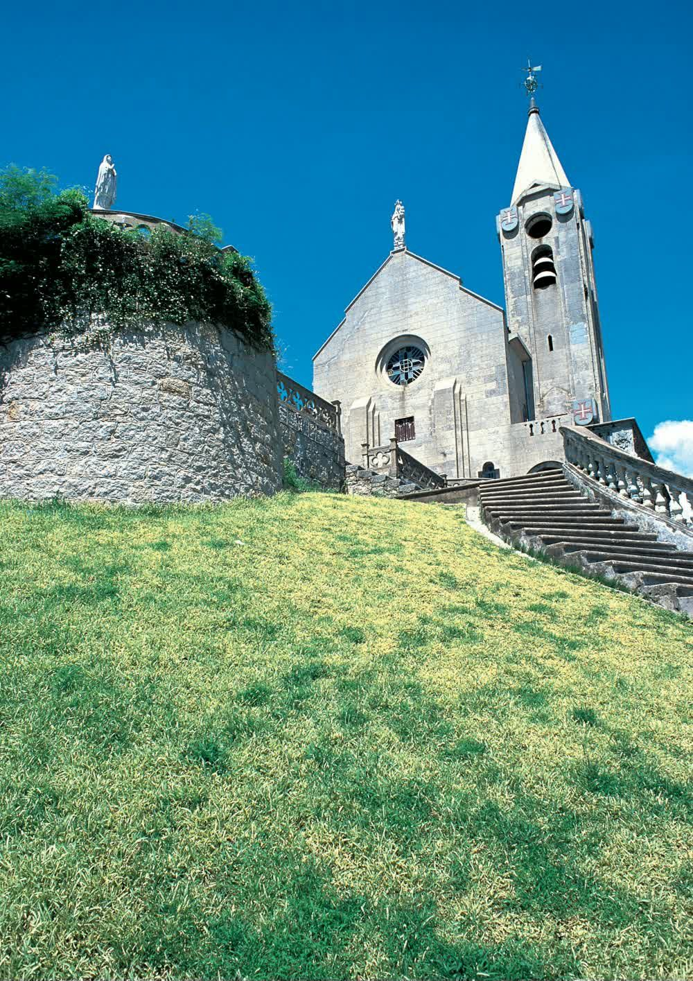 title: The beautiful Hill of Penha Catholic Church Macau