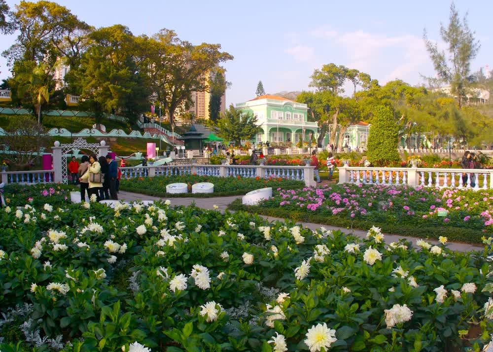 The beautiful flowers park Macau