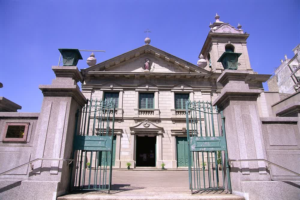 title: The gate of St Anthony s Church Macau