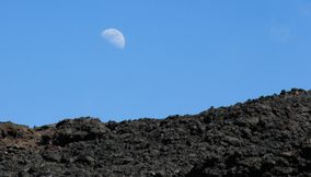 The moon over volcanes de Guatemala