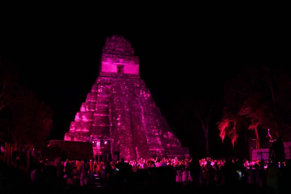title: Tikal at night Guatemala
