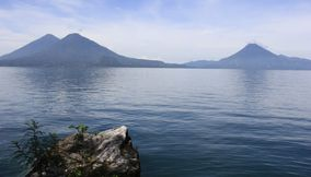 Water and Lago de atitlan Guatemala