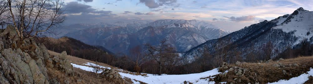 title: Winter evening in mountains Armenia