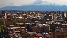 title: Yerevan Ararat Buildings Armenia