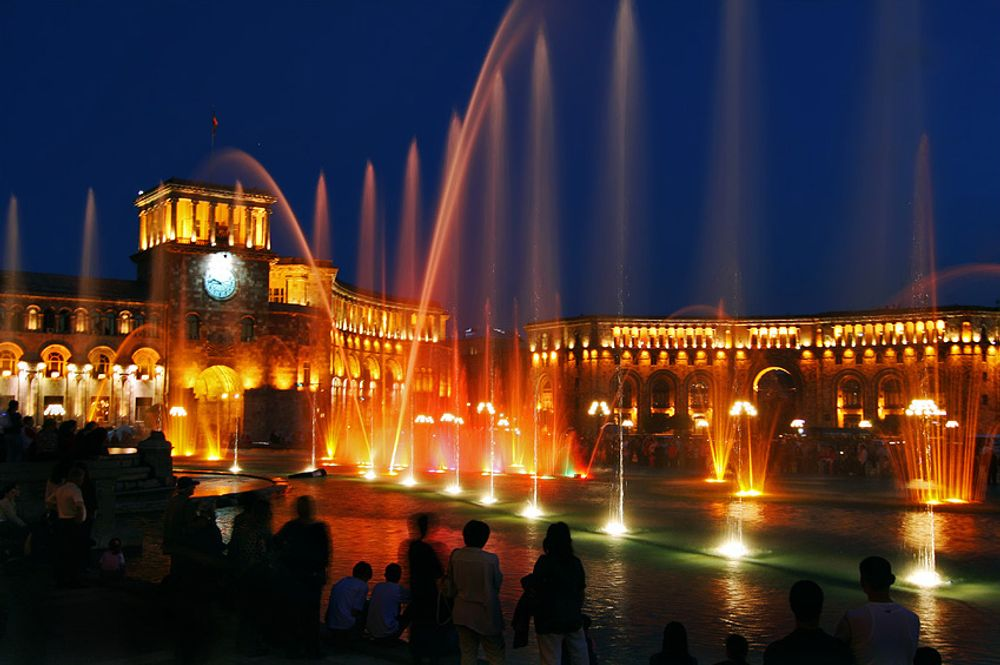 title: Yerevan at night Armenia