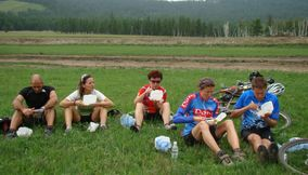 A snack after a ride Mongolia