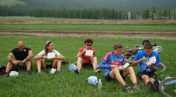 title: A snack after a ride Mongolia