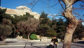 Acropolis archaeological walk Athens Attica Greece